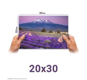 چاپ عکس در سایز 30*20 با امکان طراحی آنلاین
