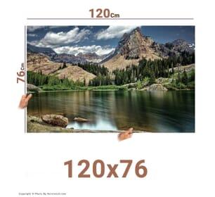 چاپ عکس در سایز 76*120 با امکان طراحی آنلاین